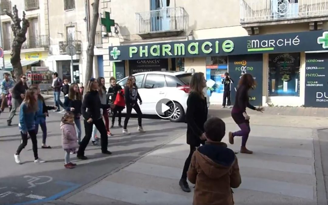 Voici une vidéo de la flash mob complète de 2015 !