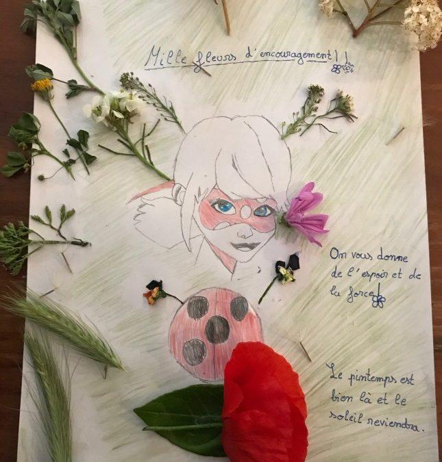 Petits et grands, dessinez, écrivez, créez tout ce que vous voulez…pour soutenir l'Ehpad Yves Couzy