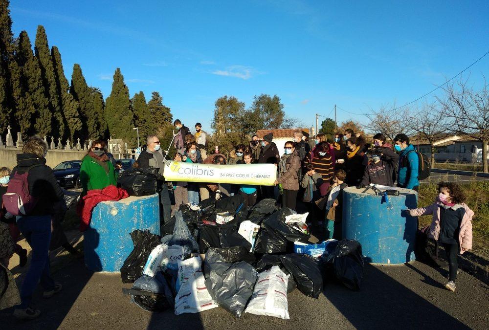Retour sur le premier rdv de l'année :  la balade de ramassage des déchets